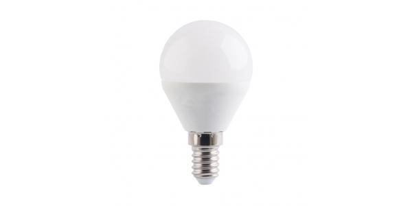 Bombilla LED G45 E14 Esférica 6W. Ángulo 160º