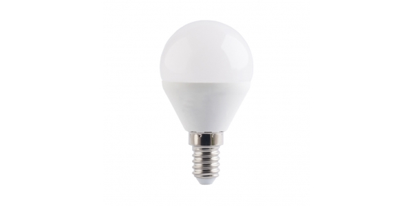 Bombilla LED G45 E14 Esférica 4W. Ángulo 180º