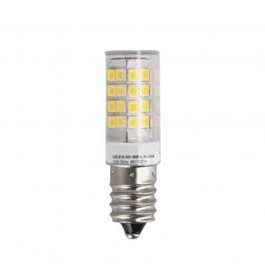 Bombilla LED E14, Nevera, 4W, 3000k, Blanco Cálido, Ángulo 200º