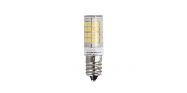 Bombilla LED E14 Nevera 4W. Blanco Cálido. Ángulo 200º