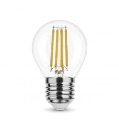 Bombilla LED Regulable, E27, G45, Esférica, 4W, 2700k, Blanco Cálido. Ángulo 360º