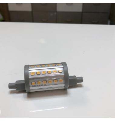 Bombilla LED R7s 7W 78mm. Regulable. 1000 Lm. Blanco Frío. Ángulo 300º