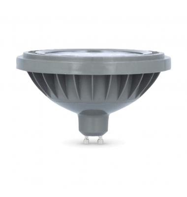 Bombilla LED AR111 10W. 220V. Plata. Blanco Natural. 4200k - Ángulo 45º