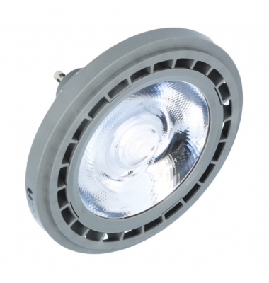 Bombilla LED AR111 10W. 220V. Plata. Blanco Natural. Ángulo 45º
