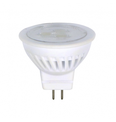 Bombilla LED GU4 MR11 3W Cerámica. Blanco Cálido de 3000k. Ángulo 38º