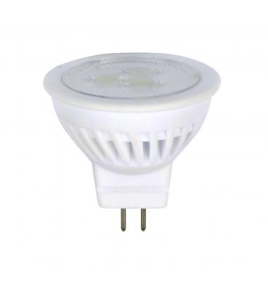 Bombilla LED GU4 MR11 3W Cerámica. Blanco Frío de 6000k. Ángulo 38º
