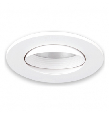 Foco Empotrable Matrix. Basculante, Policarbonato, Blanco Mate, Para Bombilla LED GU10 y MR16