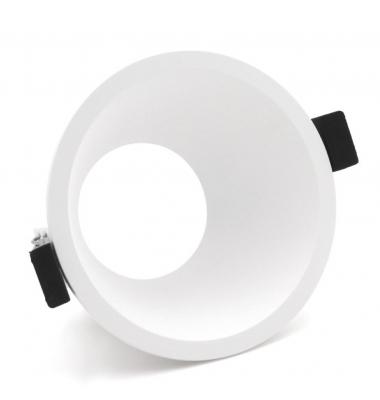Foco Empotrable Horus Asimetrico, IP20, Policarbonato Blanco, Anti-deslumbramiento, Ángulo 38º, Bombillas LED GU10 y MR16