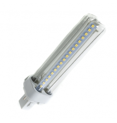 Bombilla G24 LED 2PIN 12W - 1200Lm. Ángulo 360º. Blanco Frío.