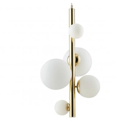 Lámpara de Suspensión HERA 5 luces de la marca Luce Ambiente Design. 5*G9. 470*1800mm
