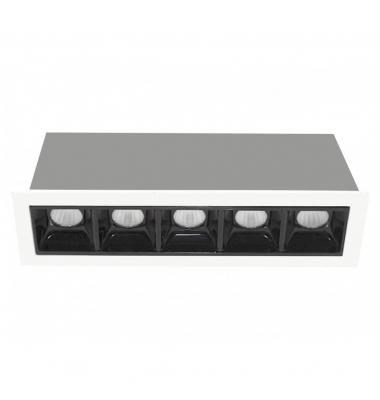 Foco Empotrar LED Inline 10W. Mini Kardan LED Citizen. Blanco Cálido. Ángulo 30º
