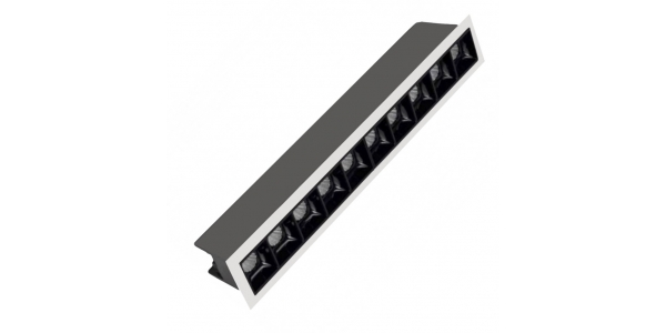 Foco Empotrar LED Inline 20W. Mini Kardan Citizen. Blanco Cálido. Ángulo 30º