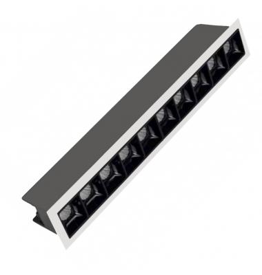 Foco Empotrar LED Inline 20W. Mini Kardan Citizen. Blanco Natural. Ángulo 30º
