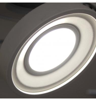 Foco Empotrable LED Dance,10W. Orientable y Basculante, Blanco Cálido, Ángulo 60º, Blanco Mate