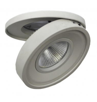 Foco Empotrable LED Dance. 10W. Orientable y Basculante. Blanco Natural. Ángulo 60º. Blanco Mate