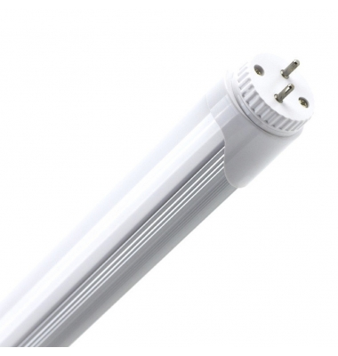 Tubo LED T8 Aluminio 600 mm. Cabezal Rotatorio. 9W-900 lm. Conexión 2 laterales. Blanco Natural