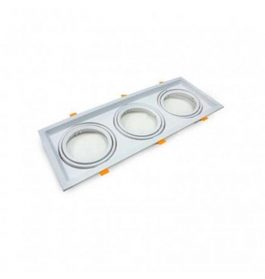 Marco Kardan LED Blanco 3 Luces