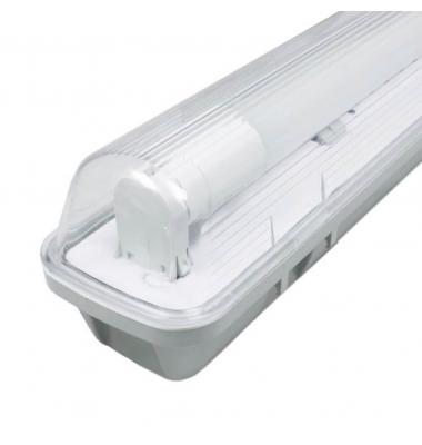 Pantalla Estanca IP65. Para 1 Tubo LED T8 de 150cm. Conexión Dos Laterales