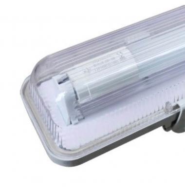 Pantalla Estanca IP65. Para 1 Tubo LED T8 de 150cm. Conexión Un Lateral