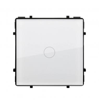 Interruptor de Pared Táctil Simple Smart WiFi. Compatible Amazon Alexa y Google Play. Acabado Blanco