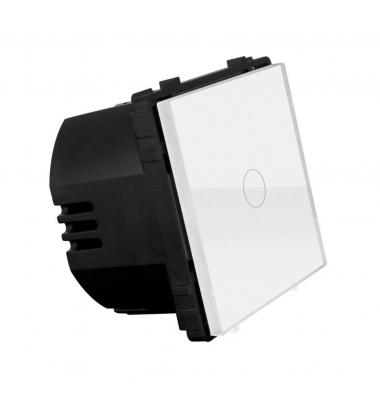 Interruptor de Pared Táctil Simple Smart WiFi. 1000W. Compatible Amazon Alexa y Google Play. Acabado Blanco