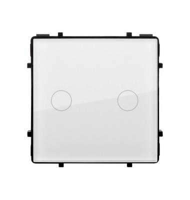Interruptor de Pared Táctil Doble Smart WiFi. Compatible Amazon Alexa y Google Play. Acabado Blanco