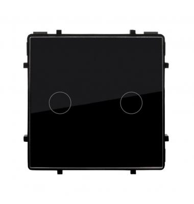 Interruptor de Pared Táctil Doble Smart WiFi. Compatible Amazon Alexa y Google Play. Acabado Negro