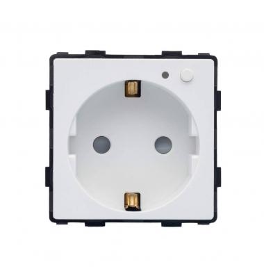 Base Enchufe Schuko Smart WiFi 16A. Compatible Amazon Alexa y Google Play. Acabado Blanco