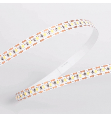 Tira LED Monocolor 18W/m, 12V-IP33, SMD2835, 95lm/w, 124 LEDs/m. Carrete 2.5 metros