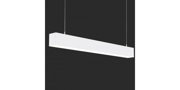 Lámpara Colgante LED LIN, 40W, 3000 Lm, Ángulo 120º, Acabado Plata