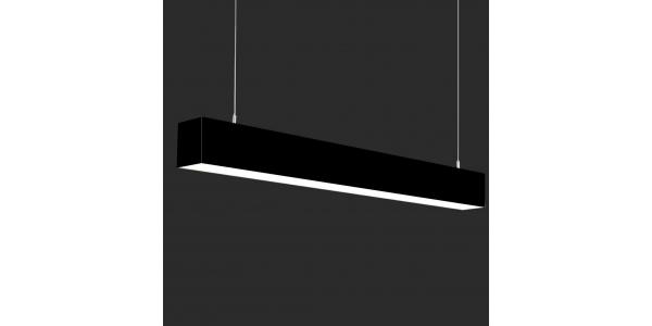 Lámpara Colgante LED LIN, 40W, 3000 Lm, Ángulo 120º, Acabado Metacrilato Negro