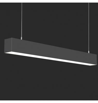 Lámpara Colgante LED LIN, 70W, 3000 Lm, Ángulo 120º, Acabado Metacrilato Negro Mate