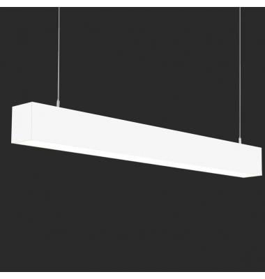 Lámpara Colgante LED LIN, 40W, 3000 Lm, Ángulo 120º, Acabado Metacrilato Blanco