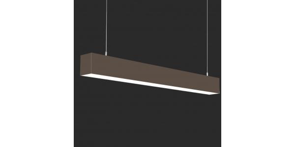 Lámpara Colgante LED LIN, 40W, 3000 Lm, Ángulo 120º, Acabado Metacrilato Marrón