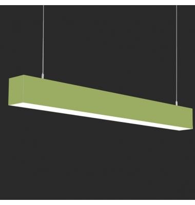 Lámpara Colgante LED LIN, 40W, 3000 Lm, Ángulo 120º, Acabado Metacrilato Verde