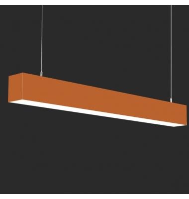 Lámpara Colgante LED LIN, 40W, 3000 Lm, Ángulo 120º, Acabado Metacrilato Naranja