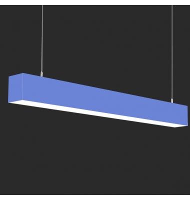 Lámpara Colgante LED LIN, 40W, 3000 Lm, Ángulo 120º, Acabado Metacrilato Negro Mate