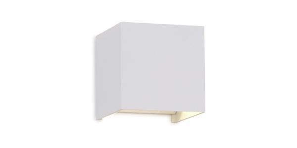 Aplique LED de Pared Rook, 12W, Blanco Mate. Blanco Cálido, IP54