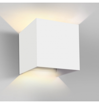 Aplique LED de Pared Rook, 12W, Blanco Mate. Blanco Natural, IP54