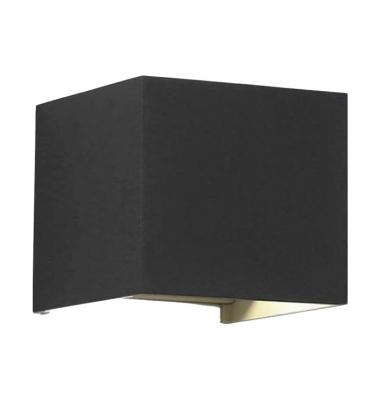 Aplique LED de Pared Rook, 12W, Negro Mate. Blanco Natural, IP54