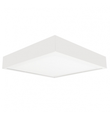 Plafón Techo Flat 60*60 LED 48W, 2800 Lm, Blanco Cálido, Blanco Mate