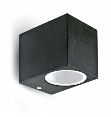 Aplique LED de Pared Fort, IP54, Exterior, Negro, 1xGU10