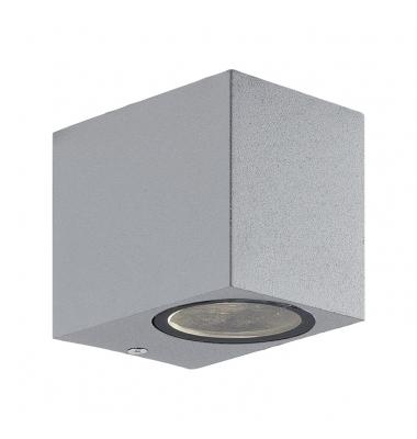 Aplique LED de Pared Fort, IP54, Exterior, Plata, 1xGU10