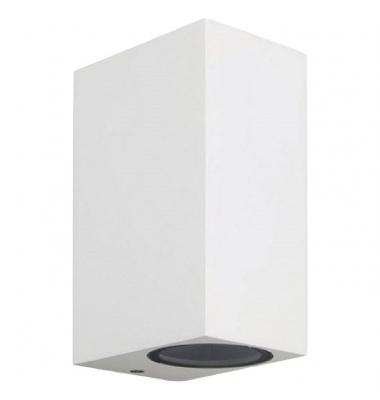 Aplique LED de Pared Block, IP54, Exterior, Blanco, 2xGU10