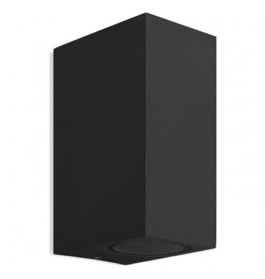 Aplique LED de Pared Block, IP54, Exterior, Negro, 2xGU10