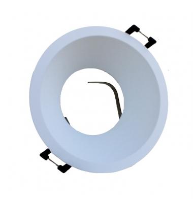 Foco Empotrable Keep, Aluminio Fundido. Blanco Mate. Para Bombillas LED GU10 y MR16