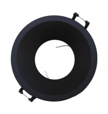 Foco Empotrable Keep, IP20, Negro Mate. Anti-deslumbramiento, Ángulo de luz 45º, Bombillas LED GU10 y MR16