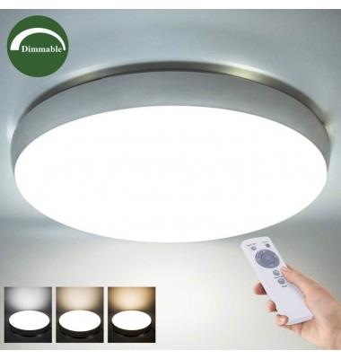 Plafón LED Techo ROSWELL, 36W, Control de Temperatura, Regulable. Luce Ambiente