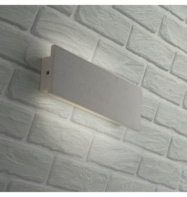 Aplique LED de Pared Parker, 12W, Hormigón Blanco, 4000k, Blanco Natural, IP65