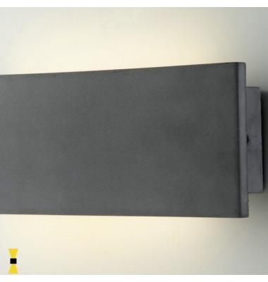 Aplique LED de Pared Parker, 8.6W, Hormigón Gris, 4000k, Blanco Natural, IP65